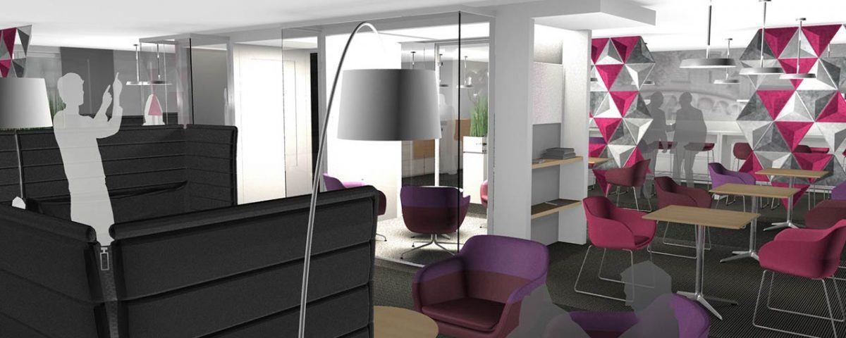 Die Lounge im First Choice Business Center Neuss: ein Ort zum Relaxen und Netzwerken