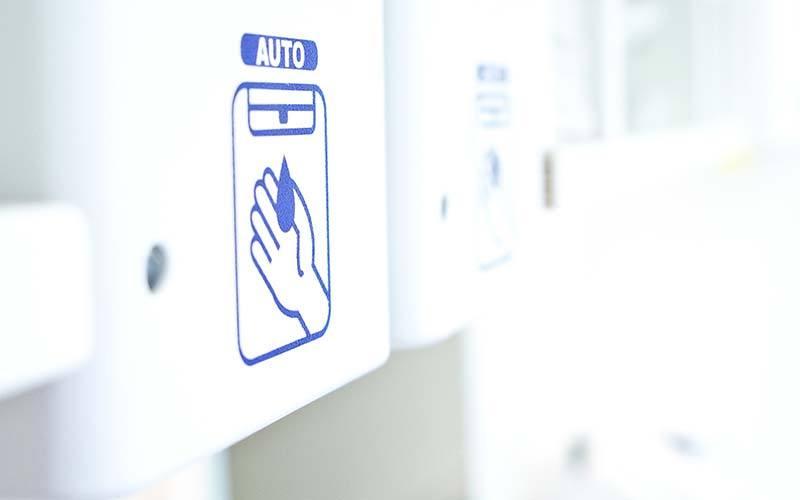 Touchless Dispenser At Dental Office