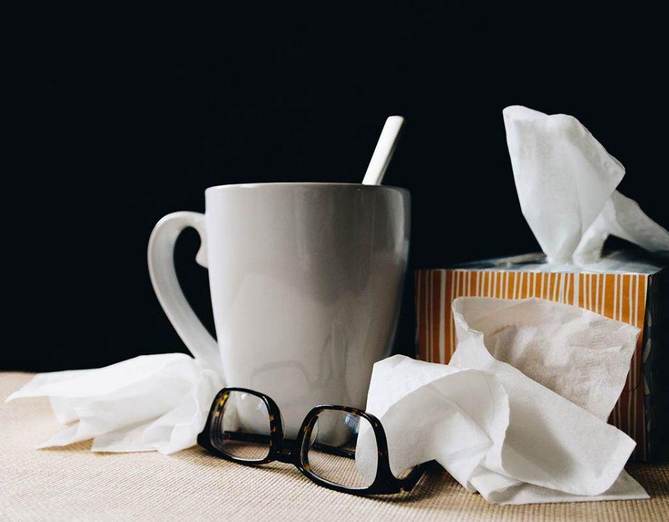 Erkältungswelle im Büro